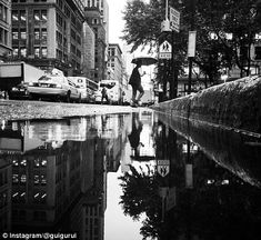 Guido Gutiérrez Ruiz - Ruiz uses elements of water and the rain to take images, finding parallels in every-day scenery