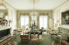 At 1,755 square feet, the Suite Vendôme is one of the largest in the hotel.  - HarpersBAZAAR.com
