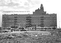 I used to live in this building late 60s/early 70s. Coney Island, Surf Avenue at 28th street, right behind the old Half Moon Hotel that had been converted to a hospital and finally a geriatric home. Demolished in the early 1980s. Photo taken by Charles Denson.