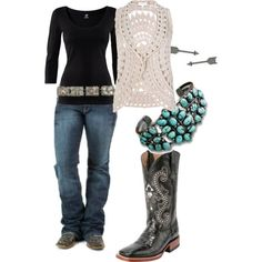You could even wear this with shorts and a short sleeve shirt for summer.  Around town, created by amandavet