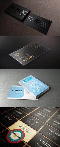 3 business card mock ups templates by herogfx com photoshop