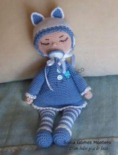 Bebe Sonia - Amigurumi Free Patterns and Amigurumi Tutorials Crochet Toys Patterns, Stuffed Toys Patterns, Crochet Dolls, Crochet Hats, Ballerina Doll, Amigurumi Tutorial, Amigurumi Doll, Free Pattern, Hello Kitty