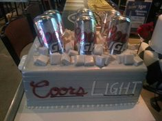 Coors light beer cooler grooms cake. Www.cravincakebakery.com
