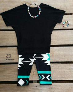 Kids - Texas Angel Tribal CAPRI Leggings