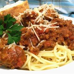 Meat-Lover's Slow Cooker Spaghetti Sauce - Allrecipes.com...lots of recipes for meat sauce, but thought I would throw in another one...looks meaty and good