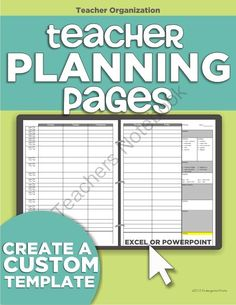 Teacher Organization - 5 Must Have Printables: teacher planning binder - make your own template. Template is an Excel or PowerPoint file where you can edit the times and box lengths to fit my weekly schedule at a glance. Teacher Planning Binder, Teacher Plan Books, Teacher Notebook, Teacher Planner, Teacher Stuff, Teacher Binder, Teacher Tools, Teacher Hacks, New Teachers