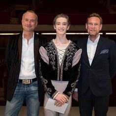 Julian Mackay on entering and winning the Prix de Lausanne 2015 - Julian Mackay with Patrick Lesage from Harlequin Europe and Dirk Ruter from Harlequin Germany