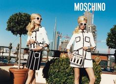 @Moschino campaign adv collection S/S 2013 photo by Juergen Teller model Hanne Gaby Odiele & Juliana Schurig #cool #style #fashion