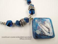 Cool2Cast Crystal Embedded Pendant by Tiffany Windsor - I love how the Cousin Corp. beads complement this crystal embedded pendant! http://www.cool2craft.com/embedded-crystal-cool2cast-pendant-cousin-corp