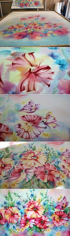 Мастер-класс: купон под пошив платья в технике свободная роспись - Ярмарка Мастеров - ручная работа, handmade