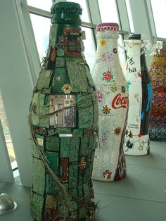 Coca Cola art form, The World of Coca-Cola at Pemberton Place. Atlanta, GA