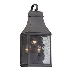 ELK Lighting Forged Jefferson 4707 3-Light Outdoor Wall Sconce - 47072/3, Durable