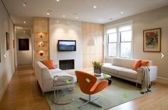 Living Room : how to decorate your living room and modern living room designs with living room interior designs Room, Room Design, Living Room Paint, Living Room Modern, Living Spaces, Small Living Room, Living Room Orange, Contemporary Family Rooms, Small Space Living