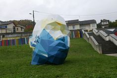 David Mesguich Geometric Sculptures public art