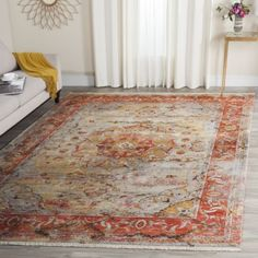 Vintage-3x5-Persian-Accent-Area-Rug-Power-Loomed-Carpet-Decorative-Pattern-New