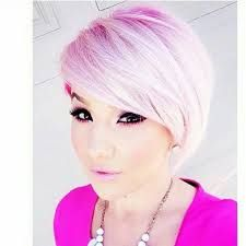 Image result for silver hair with pink