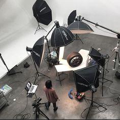 Set up of the day #studiolife #elinchrom #hasselblad #michelin #photoshoot…