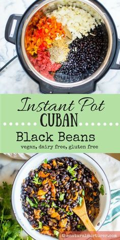 Pot Cuban Black Beans Instant Pot Cuban Black Beans are full of flavor and simple and healthy recipe that is always a crowd pleaser!Instant Pot Cuban Black Beans are full of flavor and simple and healthy recipe that is always a crowd pleaser! Whole Food Recipes, Dinner Recipes, Healthy Recipes, Instapot Vegetarian Recipes, Vegetarian Recipes Black Beans, Cuban Food Recipes, Vegetarian Recipes Instant Pot, Vegetarian Dinners, Instant Pot Stew Recipe