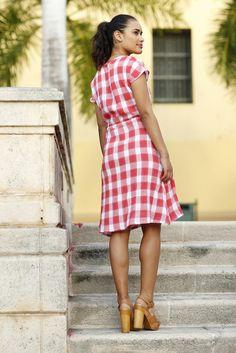 Julio Tie Waist Dress Red