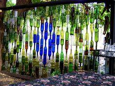 Bottle wall, Jan 2013 - Rosendal.