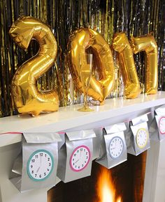 New Year's Eve Countdown Bags - free printables