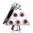 Pugster Christmas Tree Gifts Red Swarovski Crystal Bead Fit Charms Bracelet K88 - Bead, bracelet, Charms, Christmas, Crystal, Gifts, Pugster, Swarovski, Tree - http://designerjewelrygalleria.com/swarovski/swarovski-bracelets/pugster-christmas-tree-gifts-red-swarovski-crystal-bead-fit-charms-bracelet-k88/
