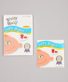 Take a look at this Brainy Baby Left Brain DVD & CD Set by Bradley's Books on #zulily today!