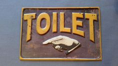 Vintage-Retro-Metal-Tin-Toilet-Sign-Plaque-BATHROOM-New