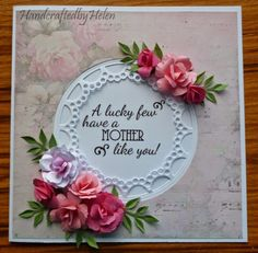 Handcrafted by Helen: Mothers Day Card in Pink