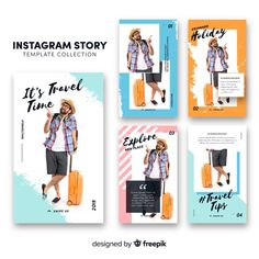 Instagram stories template Free Vector Instagram Design, Layout Do Instagram, Instagram Story Template, Instagram Story Ideas, Social Media Template, Social Media Design, Promotional Banners, Brand Guide, Branding
