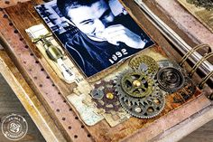 Mixed Media Art Journal Page, part of La Vie Mixed Media Journal. www.hausofw.com