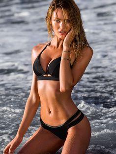 Sexy Candice Swanepoel for Victoria's Secret Swimwear 2015. #vsswim #candiceswanepoel