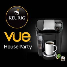 We'd like to invite 1,000 of you to throw your very own Keurig Vue House Party – after all, good coffee is best shared with good friends. If you're one of the lucky hosts, you'll receive a party pack full of everything you need to treat your friends and family to a Keurig brewing system experience that's stronger, bigger and hotter. Apply now! http://houseparty.com/link/eeff32f1