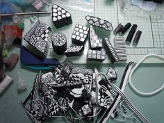Zentangle inspired polymer clay