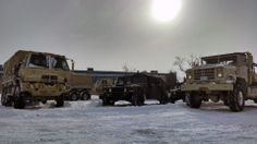 Massachusetts National Guard mobilizes to support severe January snowstorm.Soldiers of the 1166th Transportation Company from Worcester prepare their LMTVs for tide and flood checks here as part of the Guard's response to the New Year's Winter Storm Hercules, Jan. 3, 2014. (U.S. Army National Guard photo by Sgt. Evan Lane, 65th Public Affairs Operation Center, Massachusetts National Guard/Released)