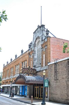"""The Saenger Theater on 6 South Joachim (""""Joe-ack-um"""") Street, designed by Emile Weil and completed in 1927, Mobile, Alabama, United States, 2013, photograph by Victoria Bergesen."""