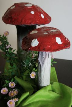 Paper Mache Mushrooms