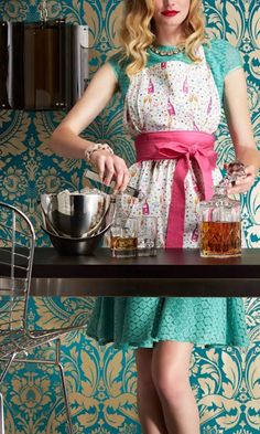 The cutest hostess aprons by Jessie Steele from the FabFitFun fall 2014 box!