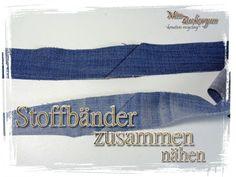 Schrägbänder/ Stoffbänder richtig und unauffällig zusammen nähen | MissZuckerguss - kreatives recycling