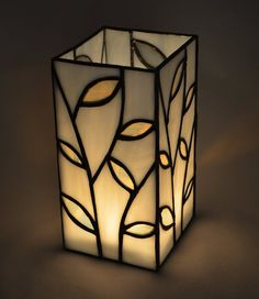 Stained Glass Leaf Vase by LittleGuppyGlasswork on Etsy