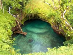 Bucket List:  Don't know where this is but I want to go!!!  To Sua Ocean Trench from above