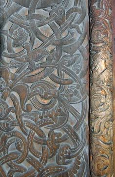 Detail from Borgund stave church, Norway, by www.touristphoto.no