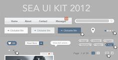 Sea Ui Kit | Pixel Pixel Pixel // Free Jetpacks for Designers