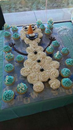 olaf cupcake cake - Google Search