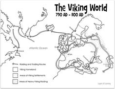 Make this viking people craft from DLTK and color a Viking Raid and Trade map from Layers of Learning. Viking Life, Viking Art, History Classroom, Teaching History, History Activities, Vikings For Kids, Middle Ages History, Viking People, Maps For Kids