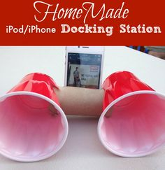 Look what you can use to make your own HomeMade iPhonei Docking Station. Super easy.