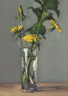 """Dandelions"" - Original Fine Art for Sale - © Elizabeth Floyd"