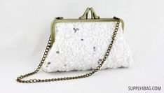 Ivory Lace Clutch for Bridal Gift