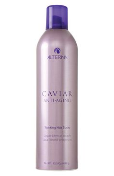 ALTERNA® 'Caviar Anti-Aging' Working Hair Spray at Nordstrom.com. An ultra-dry hair spray with progressive control provides humidity resistance with a flexible, yet brushable light-to-medium hold.