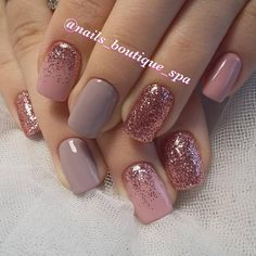 "Short nails are much easier for women. Especially working women prefer short nails. If you love short nails, you must see ""Wonderful Short Nail Desi. glitter gel nail designs for short nails for spring # Fall Nail Art Designs, Short Nail Designs, Gel Nail Designs, Nails Design, Popular Nail Designs, Pretty Nail Designs, Glitter Gel Nails, Pink Nails, Sparkle Nails"